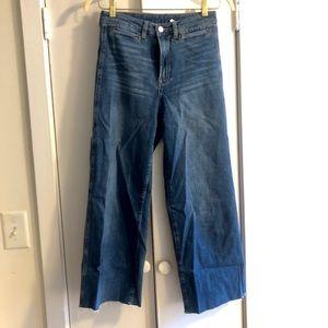 H&M Wideleg Trouser Crop Jeans